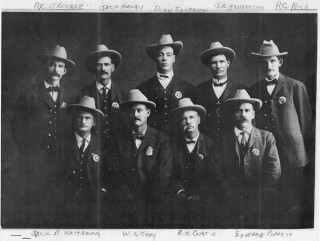 SBPD Original Nine Uniformed Officers Circa 1905